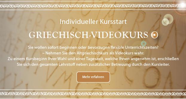 Altgriechisch-Videokurs